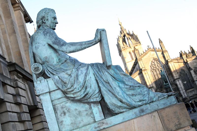 Statue of David Hume, Edinburgh, Scotland