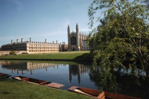 River Cam, The Backs waterway at King's College. ©VisitBritain / Britain on View